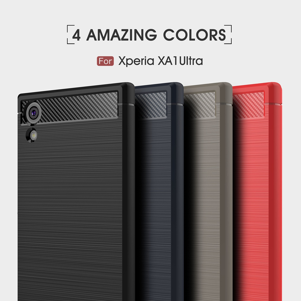 For Sony Xperia XA1 Case Luxury Ultra Slim Carbon Fiber Soft Case For Sony Xperia XA1 Ultra Case For Sony Xperia XA1 Cover Coque