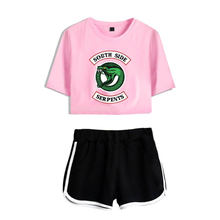 Riverdale South Side Serpents Summer Outfits for Women Crop Top Short Sets for Women Print Casual 2 Piece Sets Womens Outfits(China)
