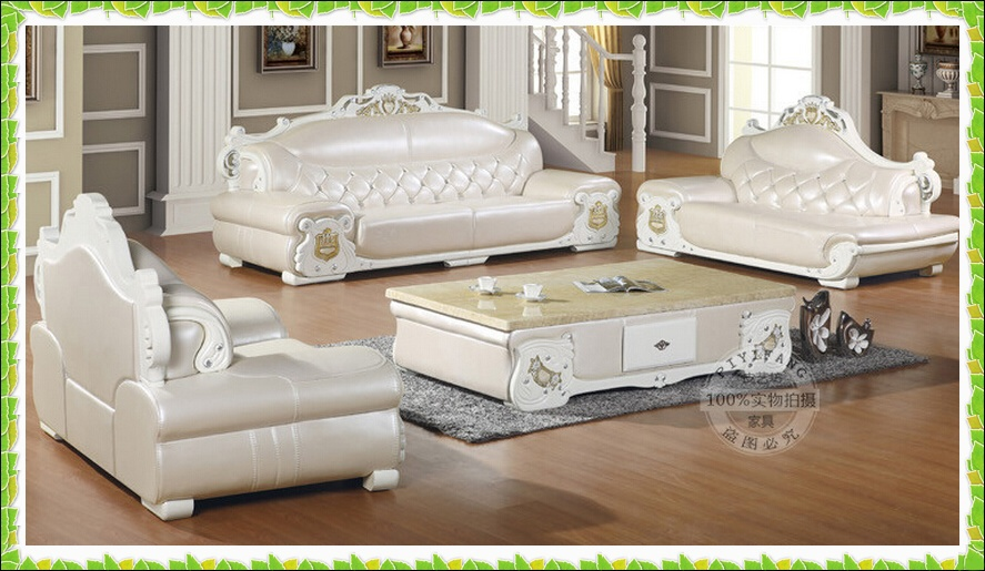 Ivory White Leather Sofa French Style Living Room Sofa Hot Selling  In  Living Room Sofas From Furniture On Aliexpress.com | Alibaba Group