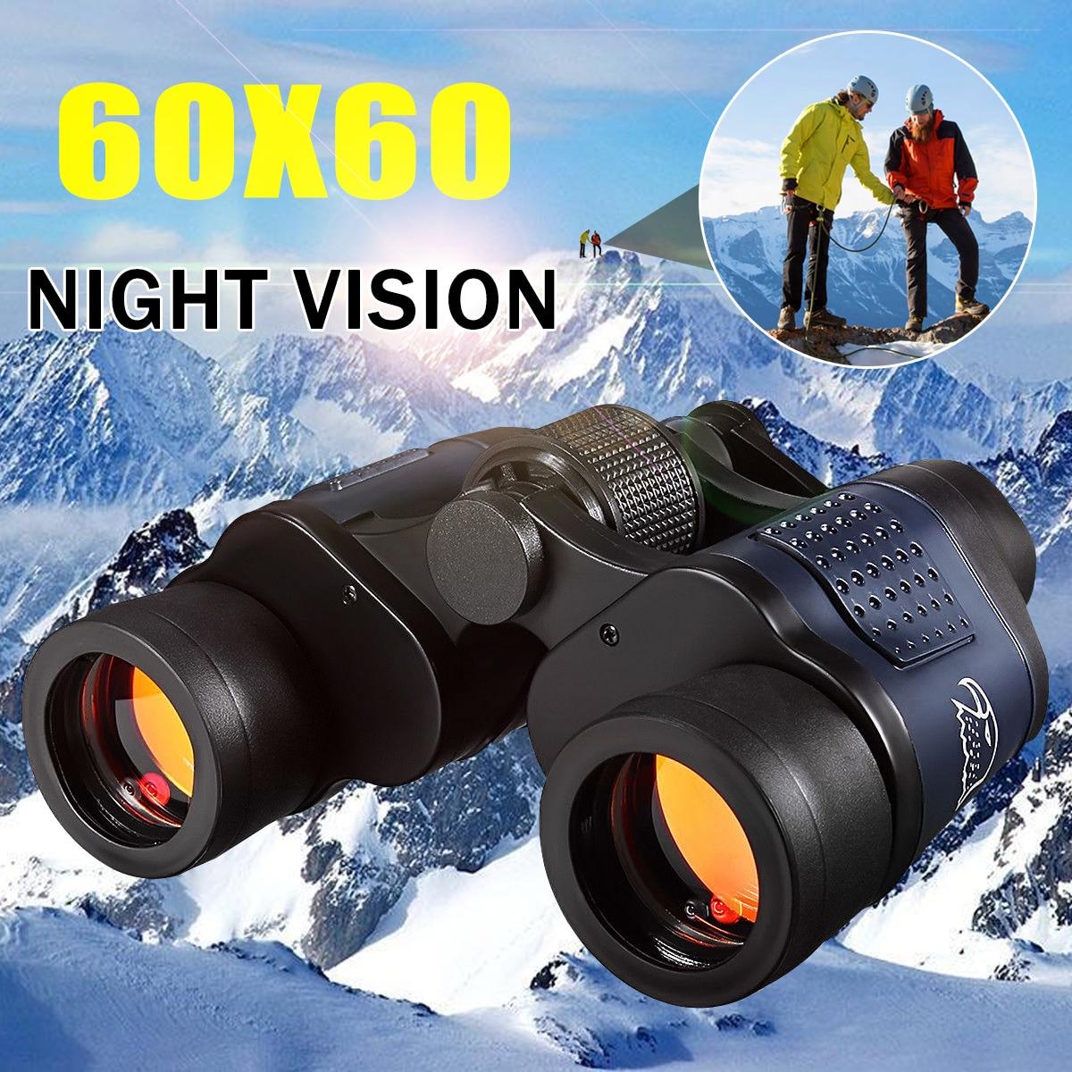 Visión Nocturna 60x60 3000 m alta definición al aire libre caza binoculares telescopio HD resistente al agua para caza al aire libre