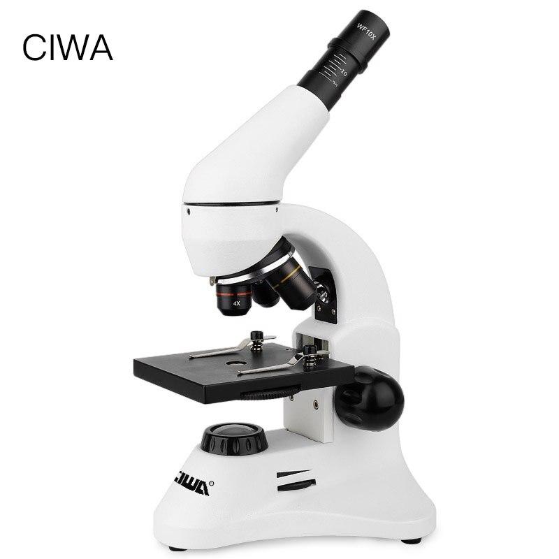 CIWA 1600X Biological Professional Eyepiece Microscope student Lab Magnification Educational Monocular Objective lens Microscope