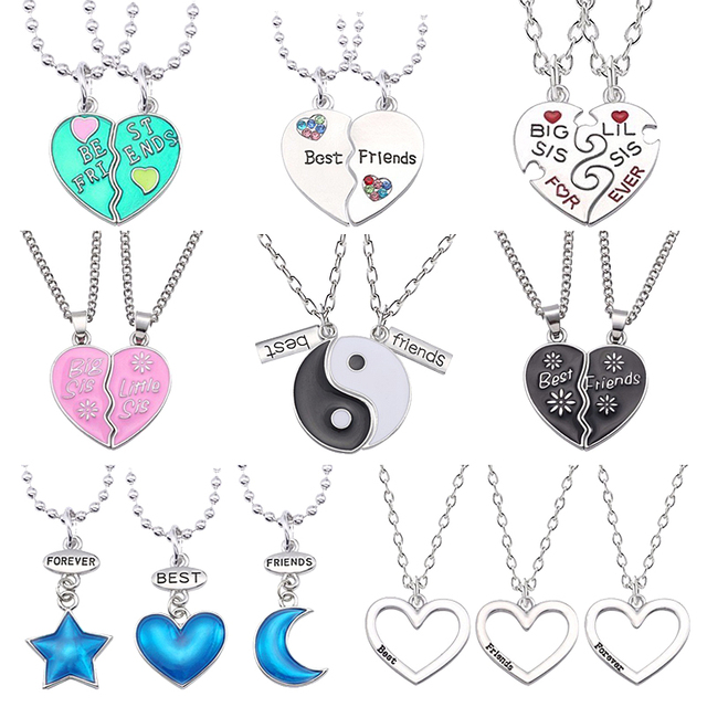 7499dc4b75 2 PCS Best Friends Necklace Jewelry Yin Yang Tai Chi Pendant Necklaces  Black White Couples Paired Necklace For Men Women Gift