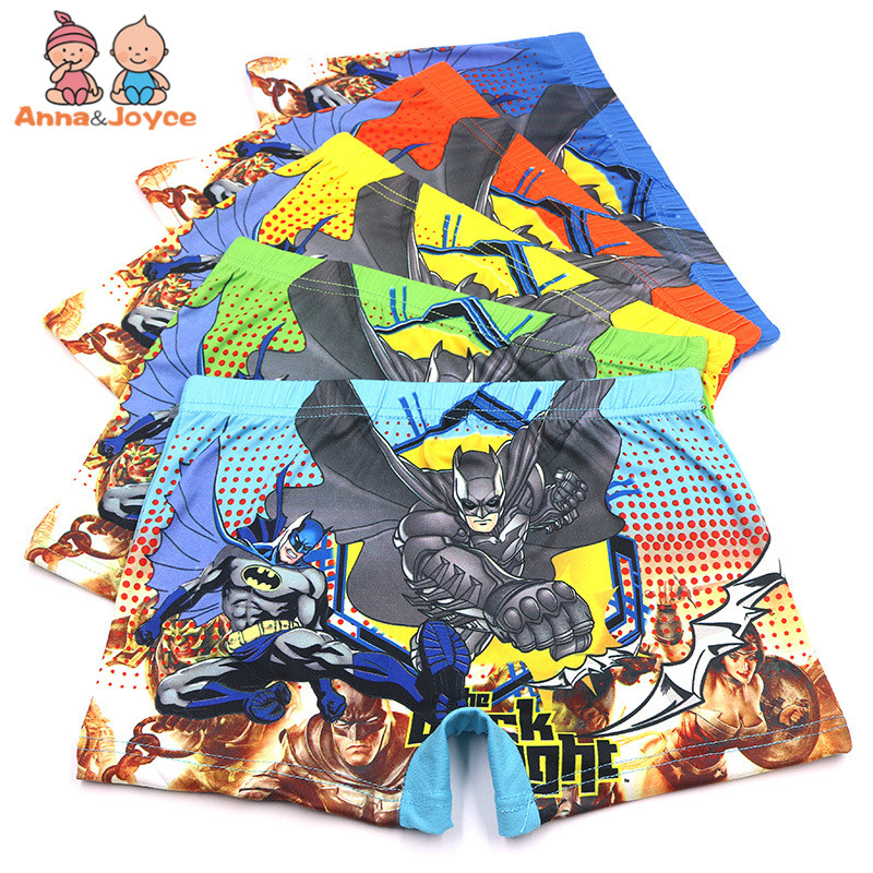 5Pcs/Lot New Boys Boxer Underwear for Children's Underwear Cartoon Boy Underwear for Children's Underwear Briefs