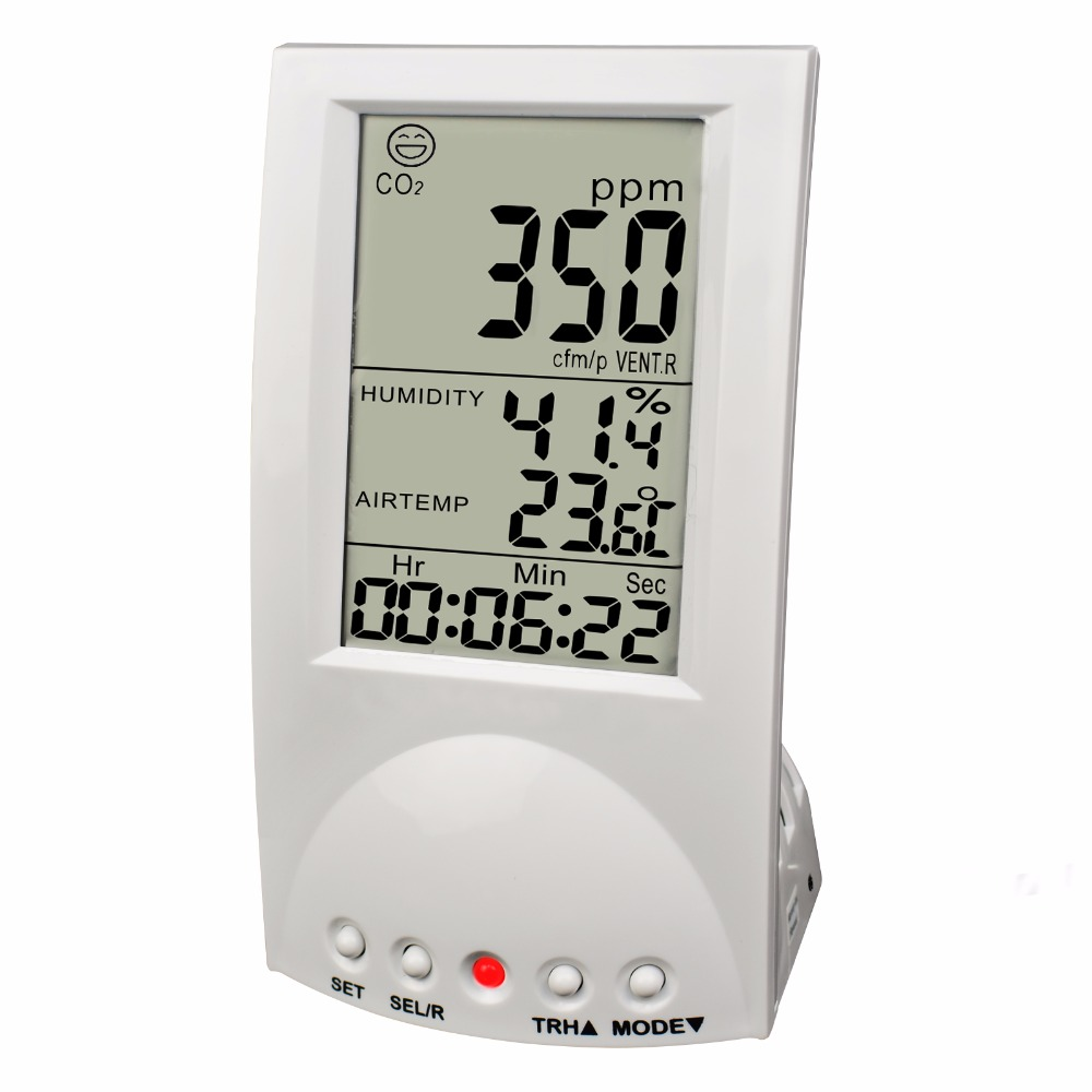 Digital Carbon Dioxide Monitor Indoor Air Quality CO2 Meter Temperature RH Humidity TWA STEL 99 points memory Taiwan Made 0 2000ppm range wall mount indoor air quality temperature rh carbon dioxide co2 monitor digital meter sensor controller