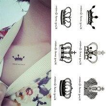 Selina Store Waterproof Tattoos Imperial Crown Black Tatoo Stickers Tattoos Finger Tattoo Tattoo Sticker For Hand Wrist