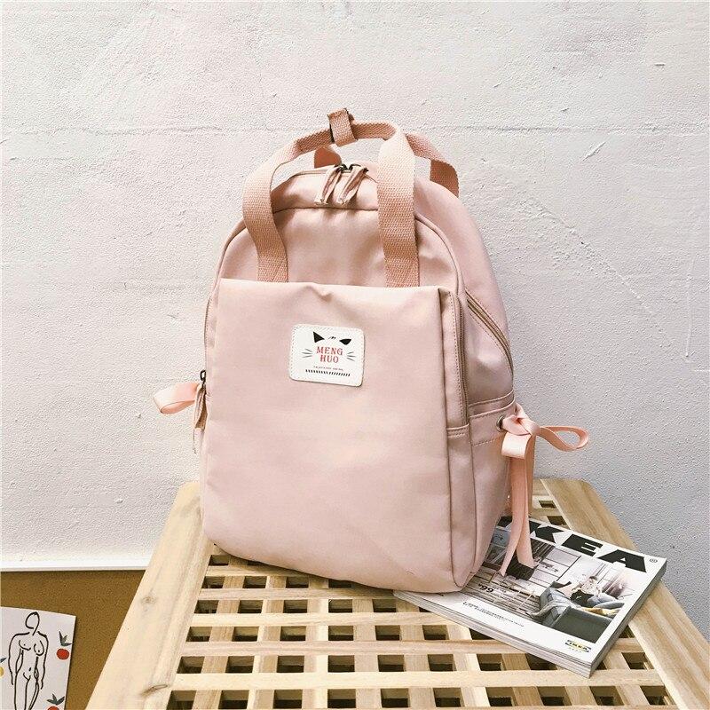 Casual Cute Backpack Women Small Pink Bow Backpacks For Teenager Girls School Bag Mochilas Feminina Rucksack Mochilas Mujer 2019