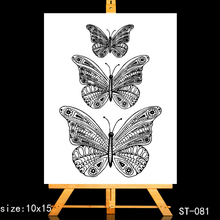ZhuoAng Big flower butterfly Clear Stamps/Card Making Holiday decorations For  scrapbooking Transparent stamps