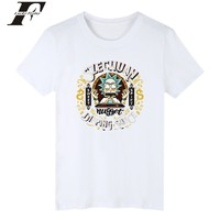 LUCKYFRIDAYF Rick And Morty Short Sleeve T Shirt Plus Size White T Shirt Men Summer Tops