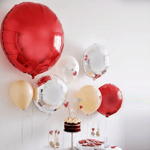 Pure Color 18inch Balloons 5pcs/lot Birthday Party Decoration Aluminium Foil Helium Gold Silver Globos Supplies