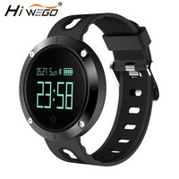 Hiwego Bluetooth Smartwatch Heart Rate Wristband With Blood Pressure Monitor Fitness Tracker Sports Band Smart Watch DM58 Pulse