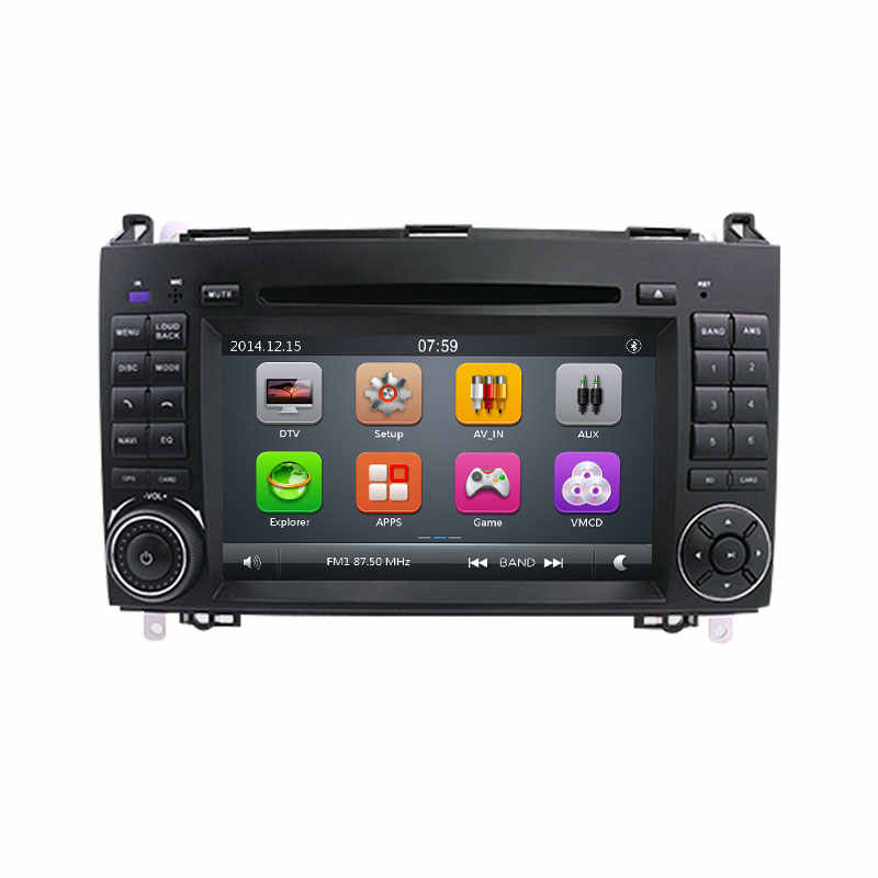 2 Din Dvd プレーヤースプリンターヴィト W639 ビアノ B クラス W169 W245 W209 W906 ベンツ B200 ラジオマルチメディア GPS ナビゲーション