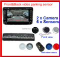 dual front and after video parking  6 radar system with front and back camera ,parking video camera monitor/DVD/VCR  6 sensor