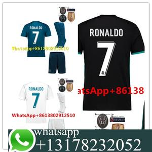 8c71d800564 2017 FREE PATCHES 2018 TOP football jerseys QUALIT SHORT REALED MADRIDED  ADULT KIT SOCCER JERSEY 17 18 HOME AWAY 3RD MEN SHIRT