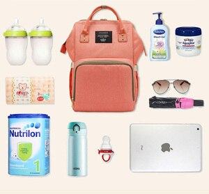 Image 2 - Lequeen Mode Mumie Mutterschaft Tasche und elefanten Große Kapazität Baby Tasche Reise Rucksack Designer Pflege Tasche für Baby Pflege
