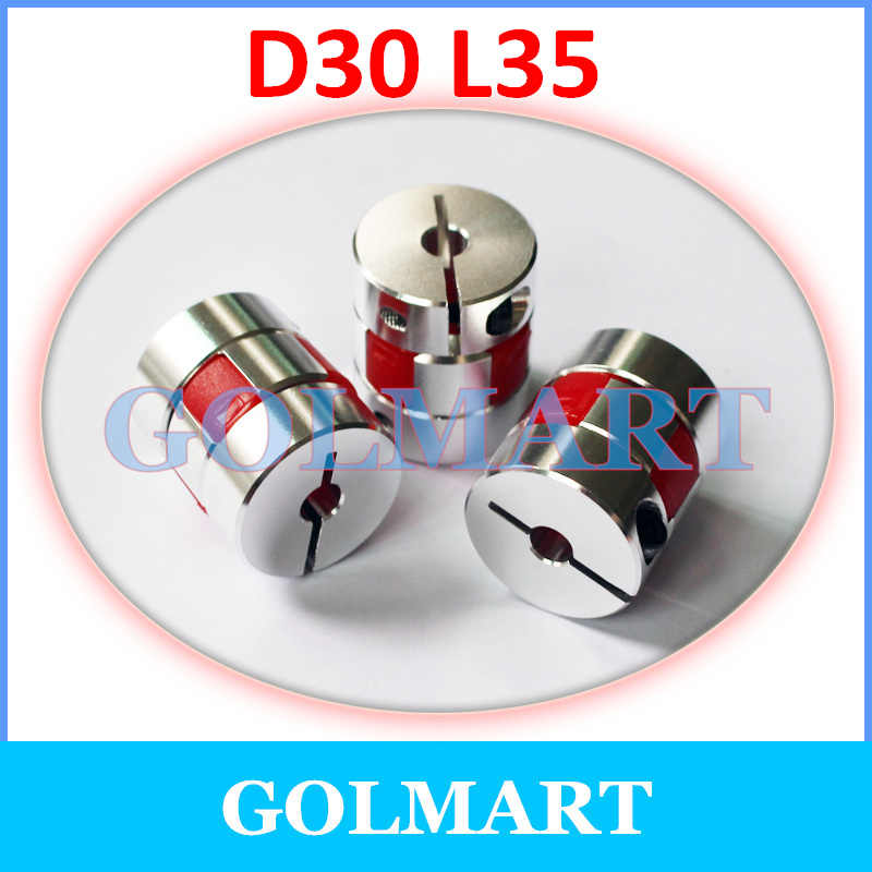 CNC มอเตอร์ Jaw Shaft Coupler ยืดหยุ่น Spider plum Coupling D30 L35 5/6/6.35/7/8 /9/9.525/10/11/12/12.7/14/15/16 มิลลิเมตร