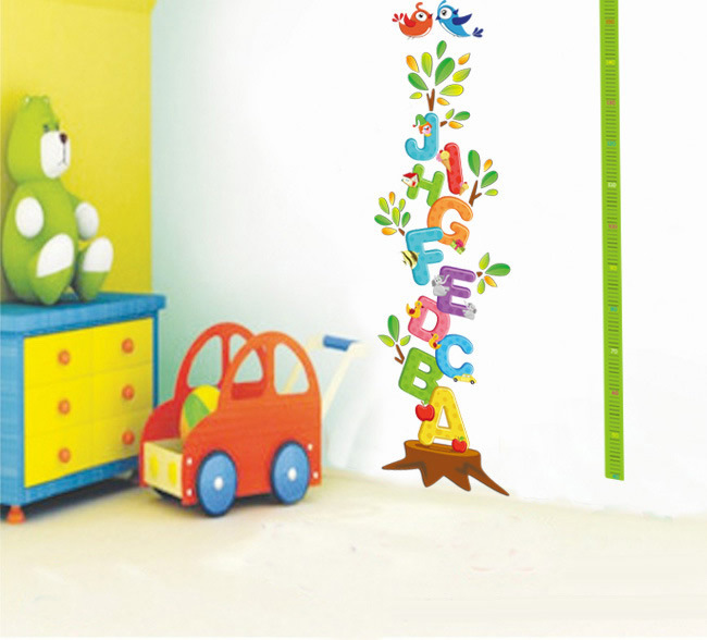 Free Shipping 50*70cm Removeable Letters Wall Sticker Kids