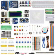 Big discount Starter Kit for Arduino Breadboard USB Cable LED Resistor HC-SR04 Infrared Receiver for UNO R3 Raspberry Pi 3 + Retail Box
