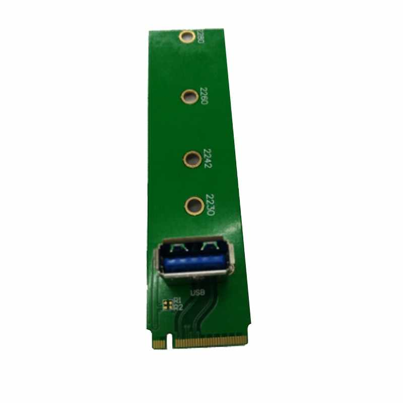 Yeni Gelenler Madencilik Makinesi Özel Amaçlı M.2 NGFF PCI-E PCIe Kanal USB3.0 Adaptörü M2 USB 3.0 Yükseltici kart için BTC Madenci