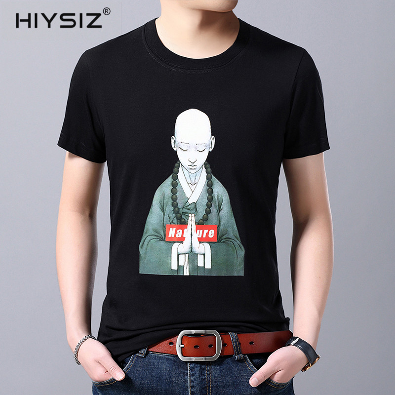 HIYSIZ NEW T Shirt Men 2019 Cotton Casual Streetwear Tops Brand Short Sleeves Pullover Male Tshirt Summer Contracted Style ST264 in T Shirts from Men 39 s Clothing