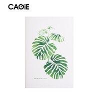 CAGIE a5 Starke Notebook Entschieden Grüne Pflanze Muster 256 Seiten Schreiben Notebooks und Zeitschriften Reisende Leder Journal Tagebuch