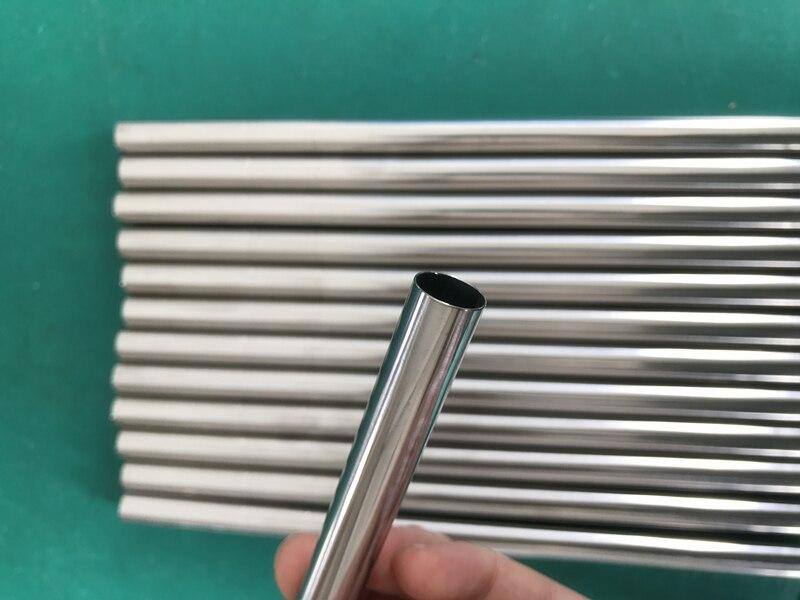 Wowshine 새로운 12mm 직경 스테인리스 304 50 pcs 마시는 밀짚 음식 급료 매끄러운 끝 lenth 242mm 우유 차 거품 차 밀짚-에서빨대부터 홈 & 가든 의  그룹 1