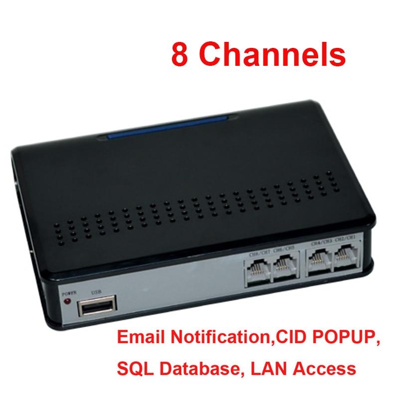8CH OEM language program multi REMOTE MONITOR function telephone monitor telephone monitor phone logger USB telephone