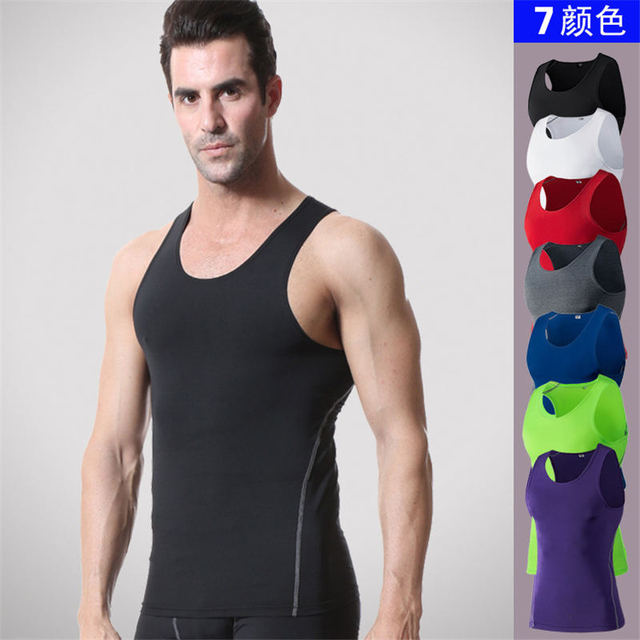 6cd27afb1e 2018 Men s Slim Body Shaper Vest Tops Shirt Mens Tank Tops Bodybuilding  Equipment Fitness Brand Singlets Men Tank Shirts Clothes