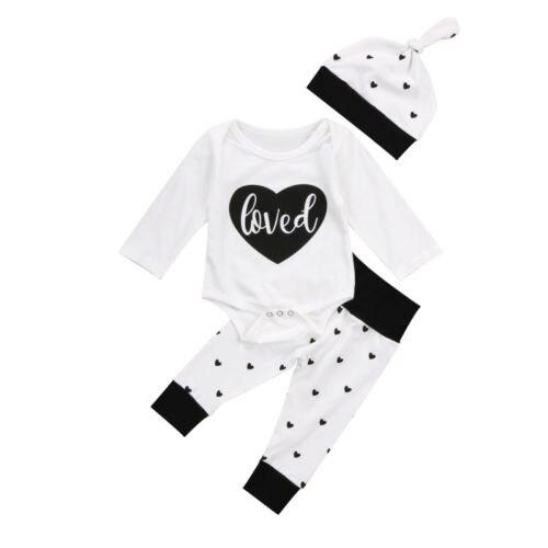 0-18 м для младенцев Одежда для маленьких девочек и мальчиков с длинным рукавом Хлопок комбинезон, штаны комплект одежды