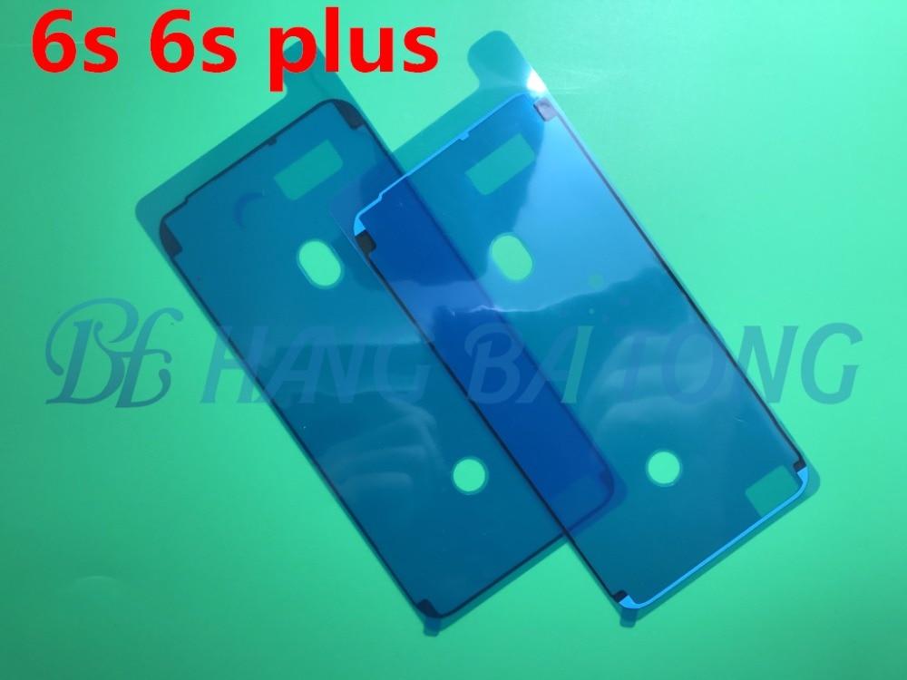 imágenes para 50 unids original impermeable 3 m pre-cut del pegamento adhesivo cinta de la etiqueta para iphone 6s 6 s plus carcasa frontal lcd marco de la pantalla táctil