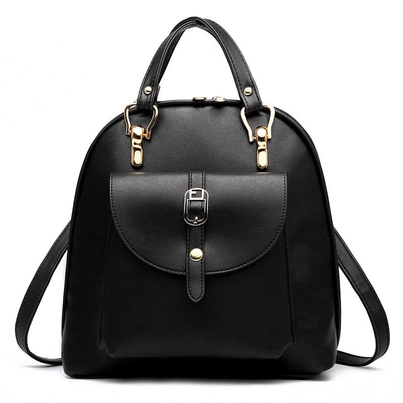 2017 new summer fashion student bag shoulder backpack bag Korean fashionista wind PU Leather Backpack