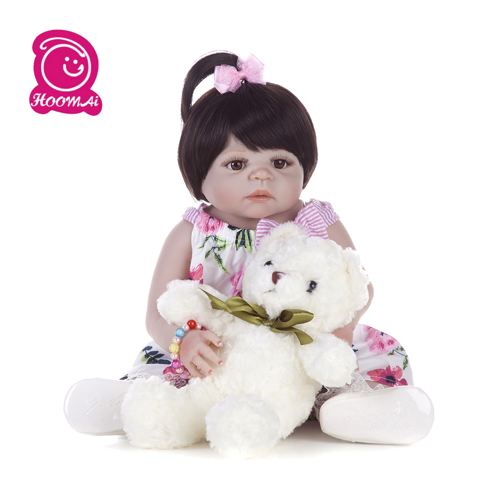 55CM Full Silicone Reborn Baby Doll Girl Toys Proncess Lovely Realistic Hair dolls Fashion Gift lol For Kids Children55CM Full Silicone Reborn Baby Doll Girl Toys Proncess Lovely Realistic Hair dolls Fashion Gift lol For Kids Children