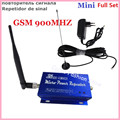 Conjunto completo LCD Família GSM 2G 900 MHz 900 Mini Cell Phone Signal Booster Repeater para 200M2 com 10 M Cabo + Indoor & Outdoor Antenna