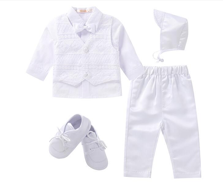 Gooulfi Christening Baby Boy Clothes Baptism White First Church Newborn Baby Boy Nursery Baby Infant Clothing Newborn Clothes Se