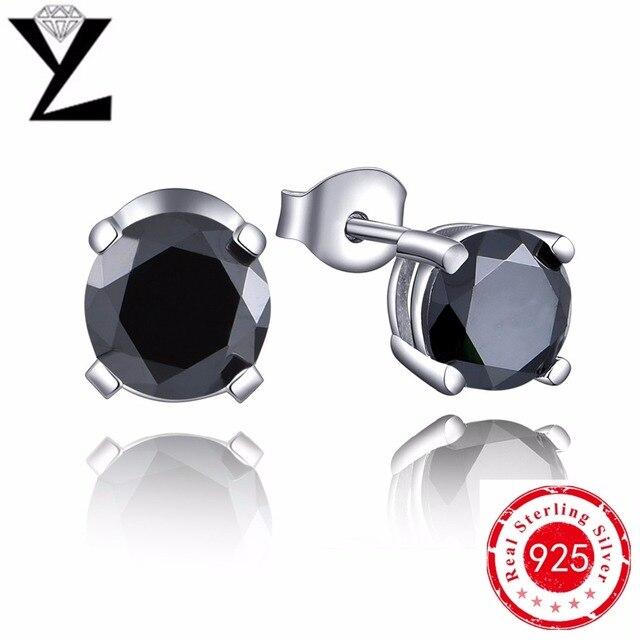 Pendientes para las mujeres 925 joyas de plata esterlina pendientes de cristal pendientes de piedra natural negro femme bijoux al por mayor del partido