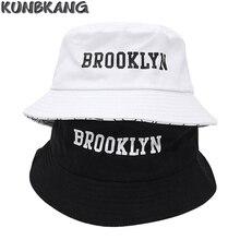 Nuove Donne Degli Uomini Brooklyn Cappellino di Cotone Stampa Hip Hop  pescatore Panama Cappello Del Sole 57ce29c6e32f