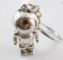new arrival high quality asimo 3D key chain spaceman keychain robot ring holder drop shipping