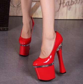 Plus 34-44 Spring multicolor fashion T stage women shoes 20cm ultra high  thick 5d729f1f5b02