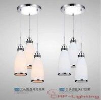 Modern Minimalist Restaurant Chandelier Dining Room Bedroom Lighting Fixtures LED Bar Material Glass E27 AC110 240V