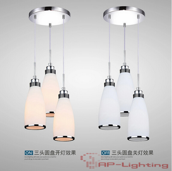 Modern minimalist restaurant chandelier dining room bedroom lighting fixtures LED bar, material: glass, E27, AC110-240V european rural bird marble hemp rope chandelier cafe restaurant corridor balcony chandelier size 33 38cm e27 ac110 240v