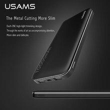 USAMS Мощность Bank 10000 мАч Dual USB Вход и Выход Мощность Bank телефон Портативный Зарядное устройство Внешний Батарея для IPhone Samsung XIA