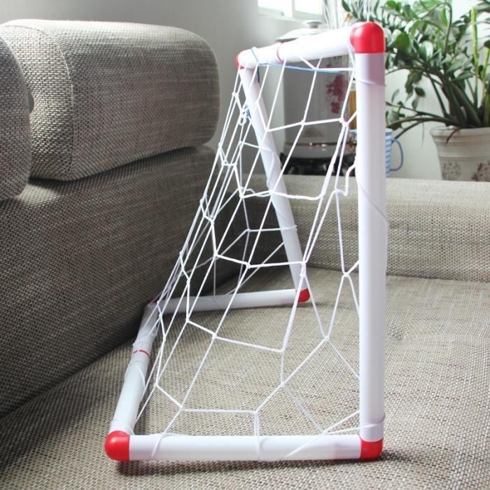 brinquedo família jogo menino crianças plástico futebol objetivo define mc889