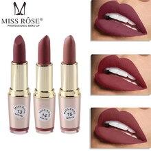 miss rose 6 color waterproof matte lipstick Nude Brown batom velvet lips tint sexy red lip stick beauty Long Lasting makeup
