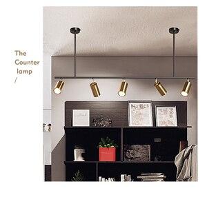 Image 5 - 北欧銅真鍮ペンダントライトランプledゴールデン現代ペンダントランプ投影ライト寝室ダイニングバーledペンダントライト