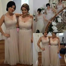 Plus Size Bridesmaid Dresses 2016 Sequins Spaghetti Wedding Formal Dress Beading Vestido Dama De Honra
