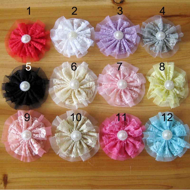 "3 5 Black Flower Hair Clip With Flower Center: Aliexpress.com : Buy 40pcs 3.5"" Vintage Lace Tulle Flower"