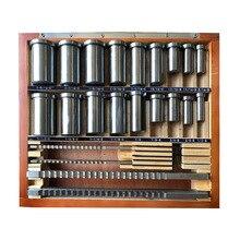 30 шт. дюймов размер HSS паз шпоночный протяжки набор ключей протяжные инструменты инструмент 5 шт. 1/2 ''-1-1/2'' 18 шт. втулки 7 шт. прокладки