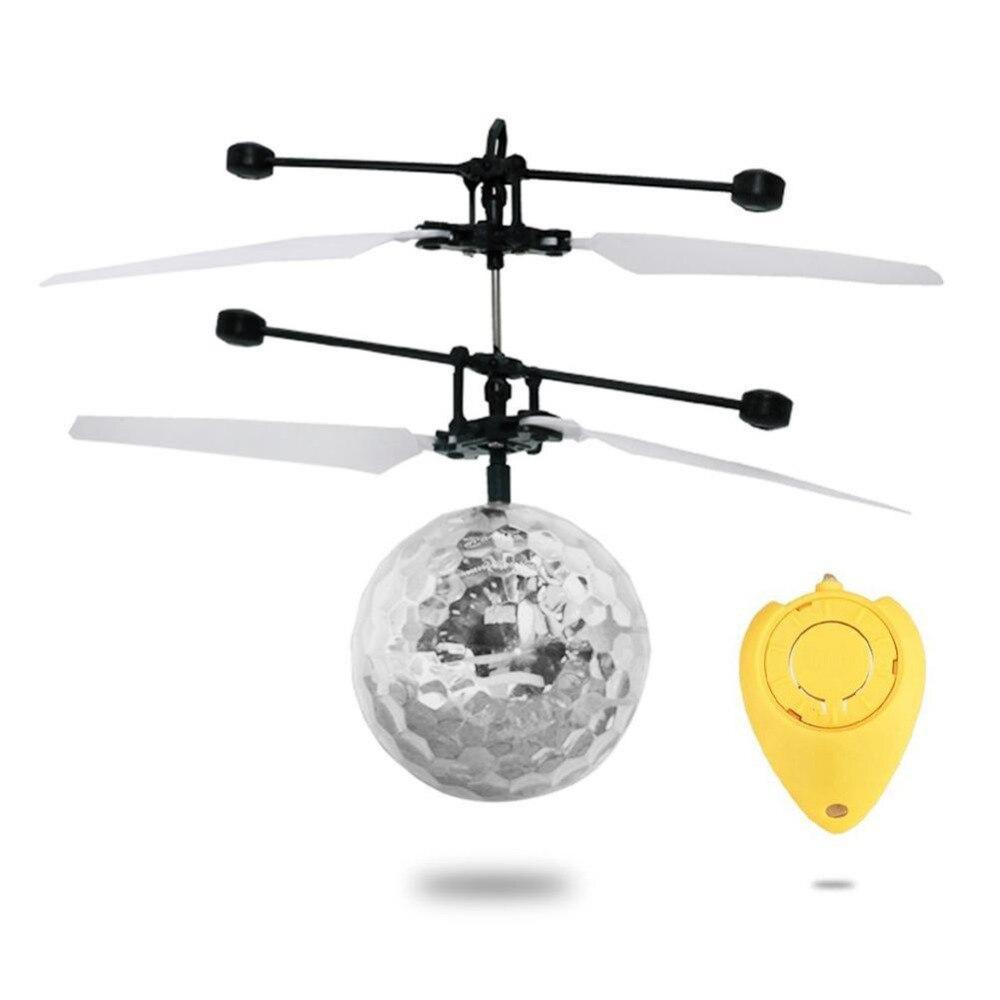 Мини Fun Kids игрушка летающий хрустальный шар светодиодный мигающий свет этапа вертолет для домашних развлечений новое поступление