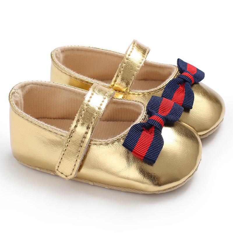 Bebe PU Leather Baby Boy Girl Baby Moccasins Moccs Shoes Bow Fringe Soft Soled Non-slip Footwear Crib shoes baby First Walkers