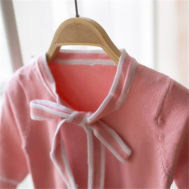 2016 Baby Girl Sweaters For Kids Trui Invierno Baby-Reborn Autumn And Winter Cotton Knitted Sweater Girl Toddler Children 60J089