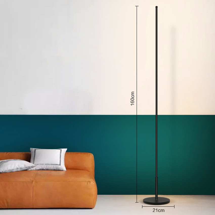 US $86.49 18% OFF|Modern Floor Lamp Living Room Bedroom Study Led Floor  Lights Lighting Stand Lamp Kitchen Fixtures Stand Light Lustre Luminaria-in  ...